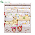 100% cotton 18pcs/set New born baby boy clothes 0-3 months Cartoon Spring Summer newborn baby girl clothes gift set tracksuit