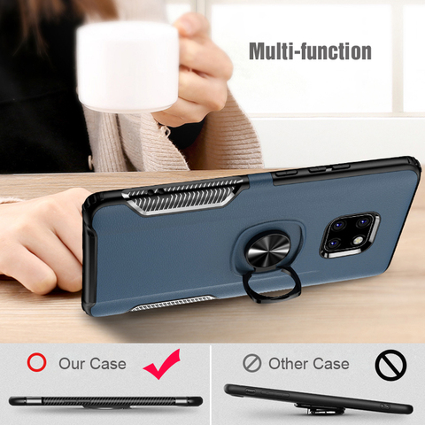 Shockproof Armor Case For Huawei Mate 20 Lite Finger Ring Holder Stand Magnetic Bracket Back Cover Huawei Mate20 Lite Case On Multan