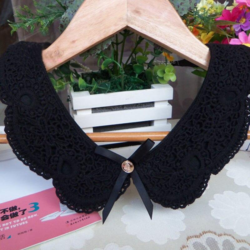 Fake Collar Women Detachable Collars Crystal Diamond Lace Cotton Detachable For Shirt Sweater