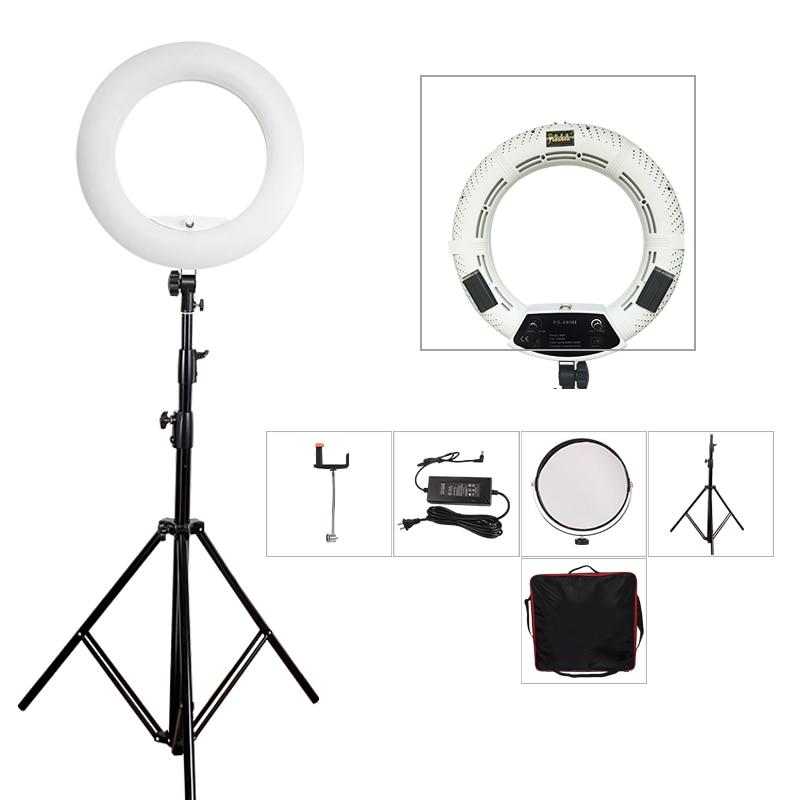 Yidoblo FS-480II White Photo Studio LED Dimmable Ring Light Lamp + bag + tripod Photographic Lighting 3200-5500K 480LED Lights
