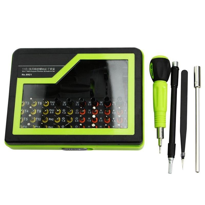 1 SET Hot Selling  53in1 Multi-Bit Repair Tools Torx Screwdrivers Kit Set For Electronics PC Laptop T0.05 37 in 1 multi bit screwdrivers set black yellow