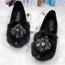 Femmes 2016 hiver plat glissement sur des chaussures de bateau femelle troupeau espadrilles mocassins mocassins big plus taille 41 10
