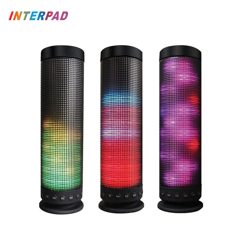 Interpad Portable Wireless Bluetooth Speaker 10w Boombox Stereo Soundbox Colorful Lights Speakers Support TF AUX For Xiaomi iOS vontar bt001 fashion wireless speaker led touch control colorful night light hands free aux and portable bluetooth speaker