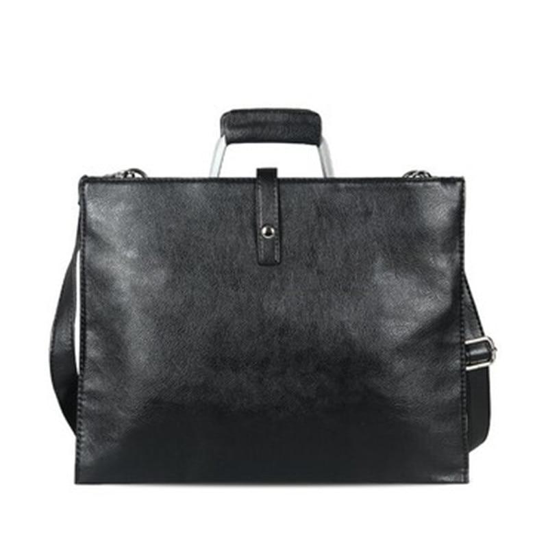 Crazy Horse Leather Briefcase Men 2019 Brand Handbag Vintage Single Shoulder Bag Business Crossbody Bags For Ipad Man Travel Bag