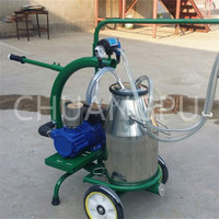 Dry Type Pump Electric Driven Single Goat Milking Apparatus Machine