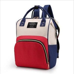 Image 4 - 다기능 엄마 엄마 기저귀 가방 패션 패치 워크 대용량 아기 가방 여행 배낭 엄마 디자이너를위한 간호 가방