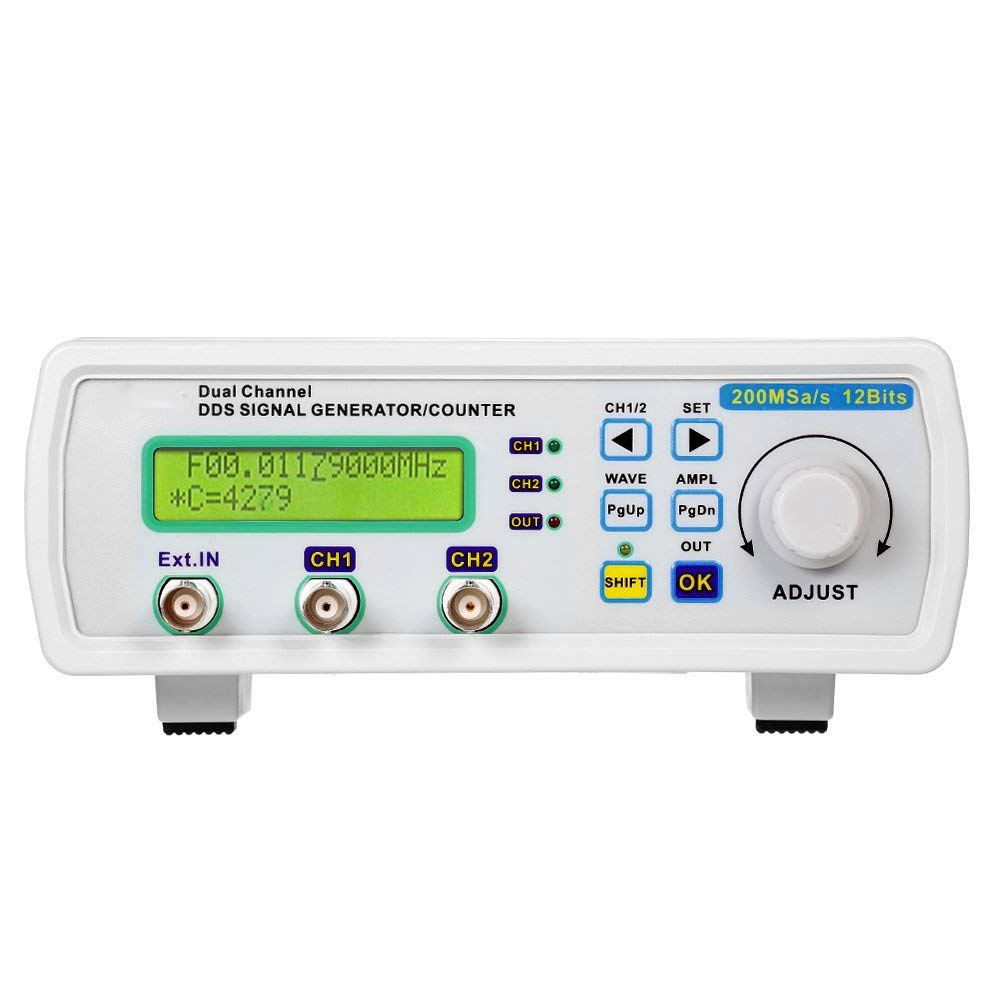 High Accuracy Digital Signal Source Generator DDS Dual Channel Signal Generator Arbitrary Waveform Frequency Meter 200MSa / s 25High Accuracy Digital Signal Source Generator DDS Dual Channel Signal Generator Arbitrary Waveform Frequency Meter 200MSa / s 25