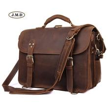 J.M.D New Arrivals Fashion Men's Handbag Dark Brown Big Size Travel Bag Multifunction Shoulder Bag Laptop Bag 7370R