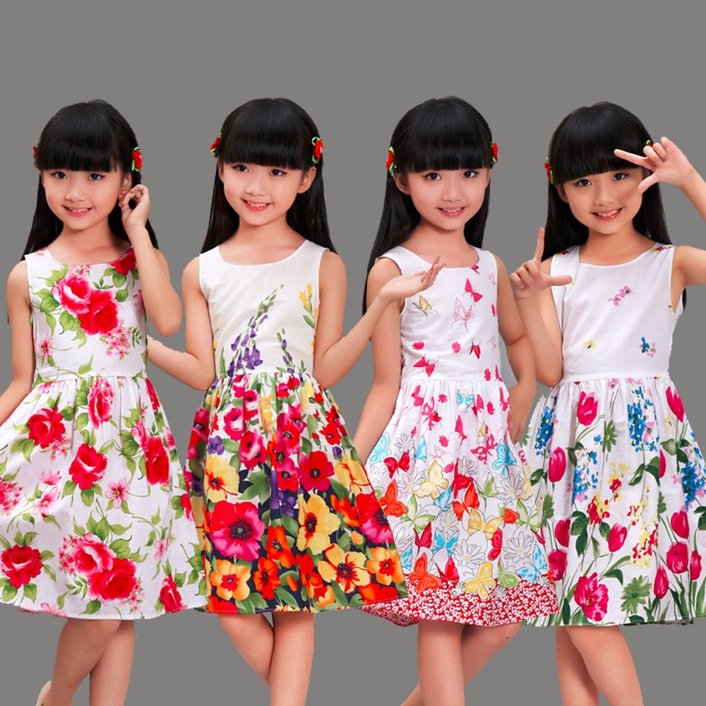 Shybobbi New Girls Dresses 100 Cotton Fashion Floral