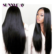 Pre Plucked 8A 130% Density Lace Front Human Hair Wigs Peruvian Virgin Hair Straight Full Lace Human Hair Wigs For Black Women
