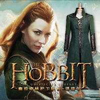 The Hobbit Elf Tauriel Cosplay Costume Adult Women Halloween Outfit Custom Made
