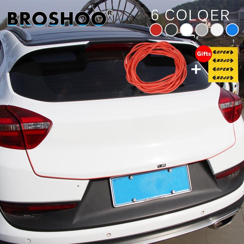 BROSHOO Auto Tür Seite Protector Scratch Crash Gummistreifen Aufkleber für KIA CEED Picanto Rio K2 Optima Carens Sportage Auto Styling