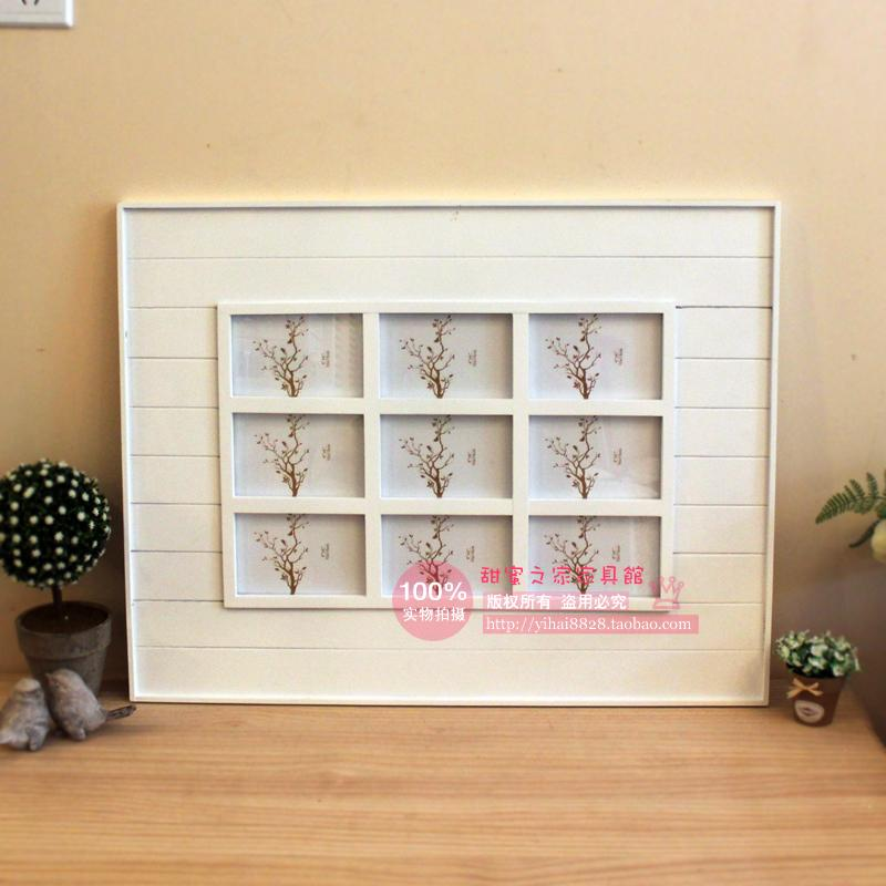 Creative combinations of 6-inch 9-piece frame grid minimalist modern photo frame picture frame swing sets wedding photo frame ho
