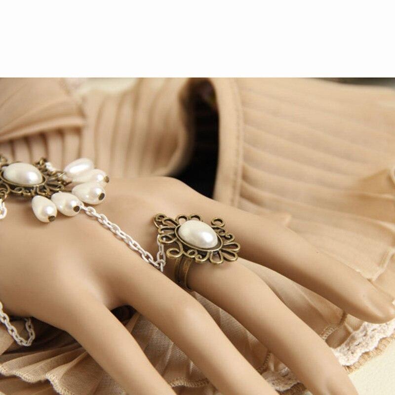 Ručno izrađene ženske perle kapljice slojevitog lanca Faux biserni - Modni nakit - Foto 4