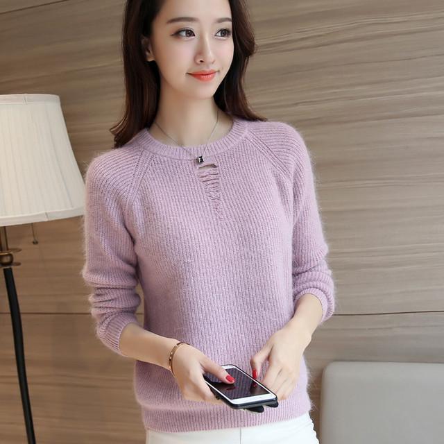 3754 nuevo vestido de invierno suéter de la camiseta tiro traspasado 58