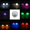 (120 pçs/lote) Floating Mini Mágico À Prova D' Água LEVOU Bola De Luz 2 CM Rodada LED Bagas, Luz Balão CONDUZIU Iluminação Da Piscina de Natação