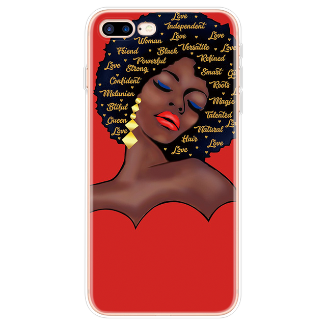 Afro Girls Black Women Art Case FOR iPhone XR XS Max X Coque For iPhone 11 Pro Max Case For iPhone 7 8 6 6S Plus 5 5S SE Fundas