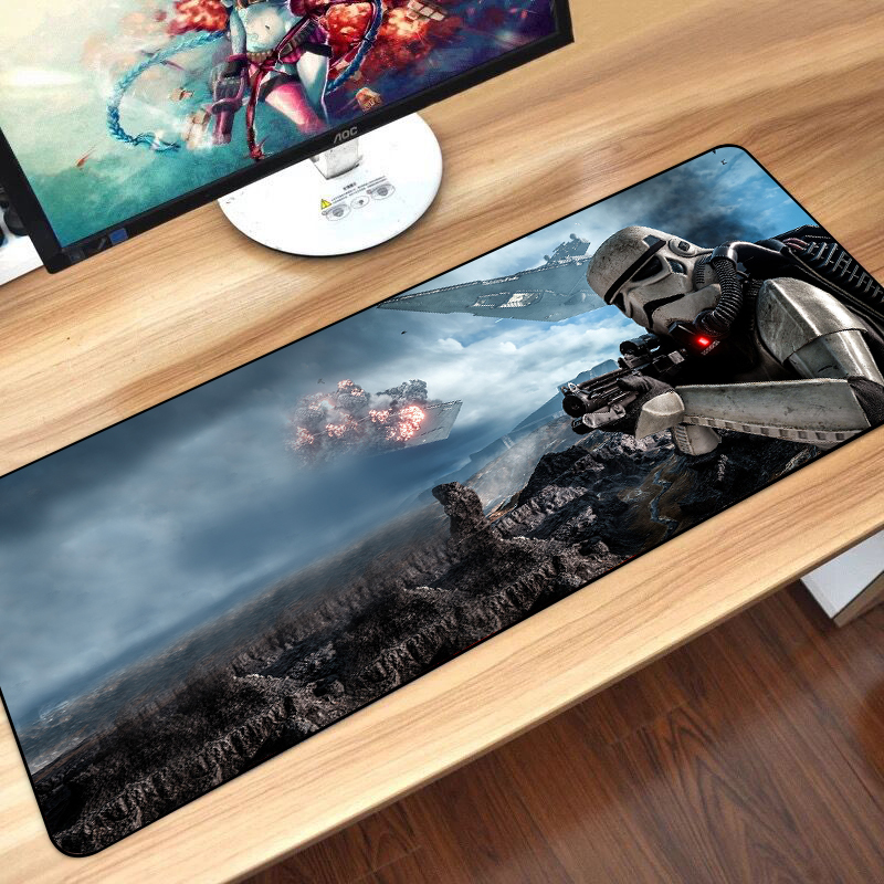 Image 2 - 80x30cm Star Wars Gaming Mouse Pad XXL Computer Mousepad Large XL