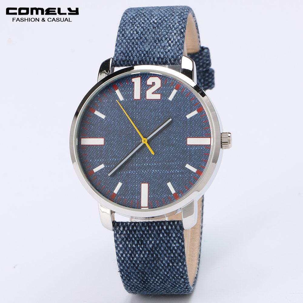 2018 Hot sale Fashion Men's Watch Luxury Casual Leather Band Round Shape Concise Classic Wristwatch for business gift