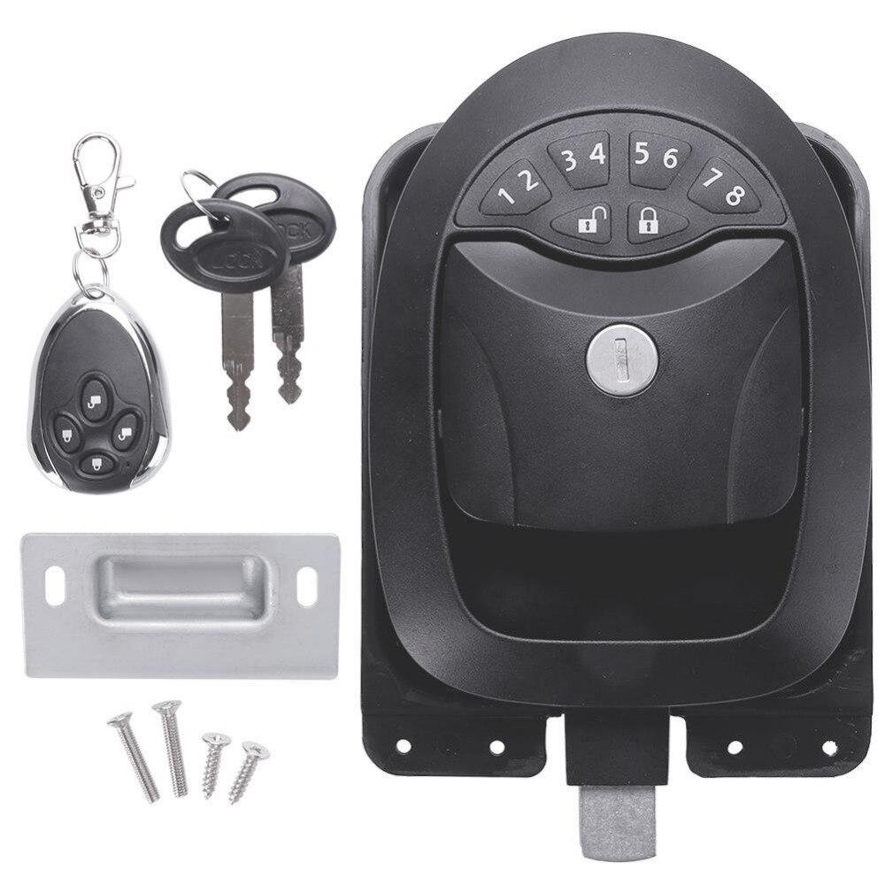 Black Keyless RV Entry Door Lock-1