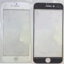 100pcs/lot for iPhone 7 7G plus 7plus 4.7 5.5 inches Front Outer Screen Glass Lens White and black Replacement via DHL