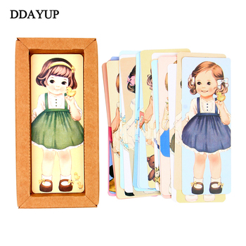 Cute Kawaii Curly Girl Dolls Paper Bookmark Cartoon Vintage Book Mark Stationery Gift Office School Supplies 30pcs lot cute kawaii paper bookmark vintage japanese style book marks for kids school materials