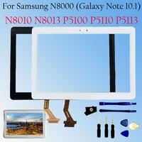 Novo Para Samsung Galaxy Tab 2 N8000 P5100 P5110 N8010 N8013 Touch Screen Digitador Painel de Lente de Vidro Frontal Montagem Do Sensor LCD|Painéis e LCDs p/ tablet| |  -