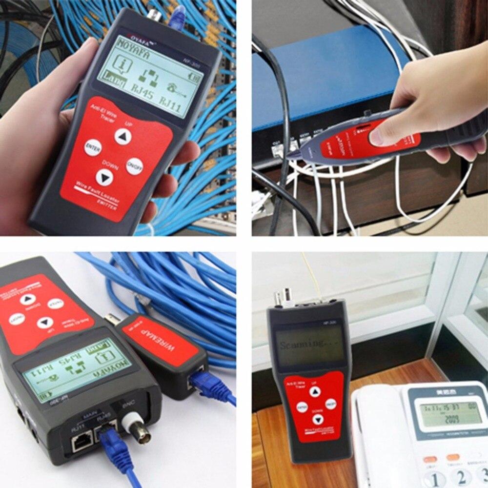 NOFAYA NF-300 professionnel LAN testeur RJ45 câble longueur testeur réseau surveillance fil Tracker Anti-interférence tonalité traceur - 6