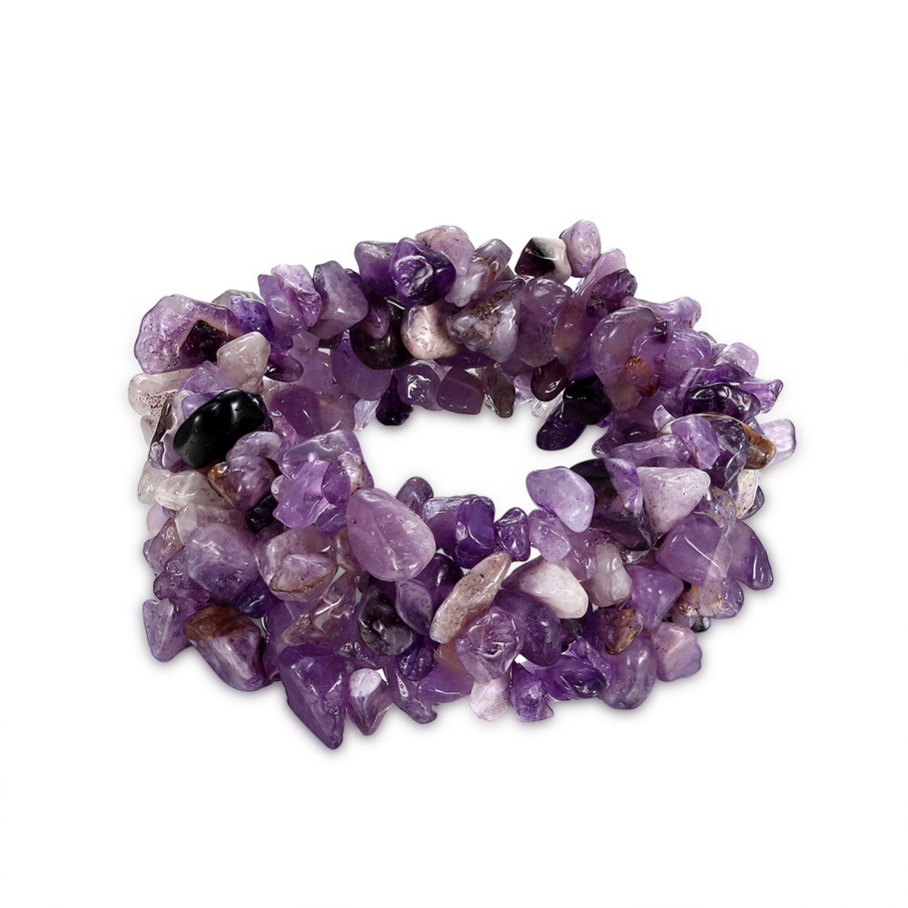 97f378c40000 Bohemia multilayer 7 colores Piedra Natural joyería de moda cristal Cuentas  Strand encanto partido amigos regalos Pulseras y brazaletes