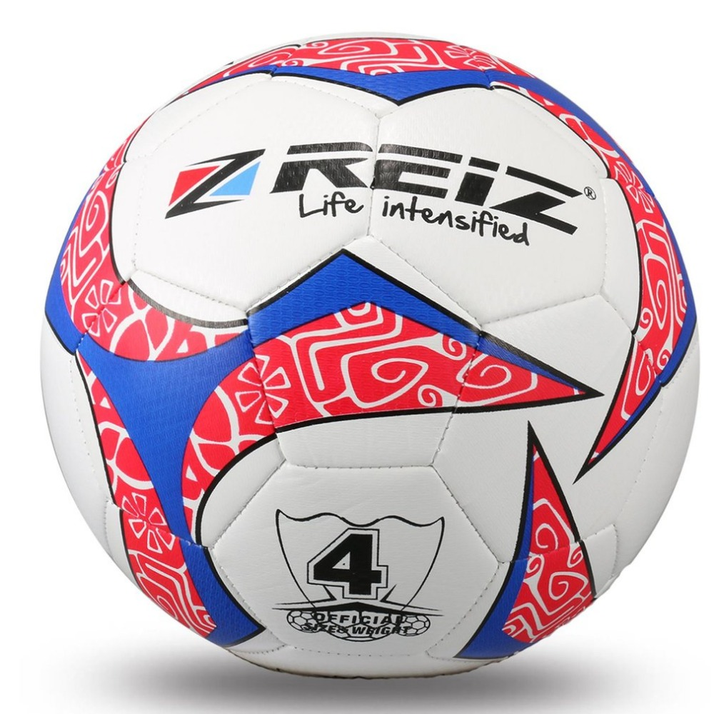REIZ 20CM 4# Soccer Circumference Hit Color Football Training Balls Anti-Slip Seemless Match Training Competition Ball tiebao e1018c professional kids indoor football boots turf racing soccer boots training football shoes