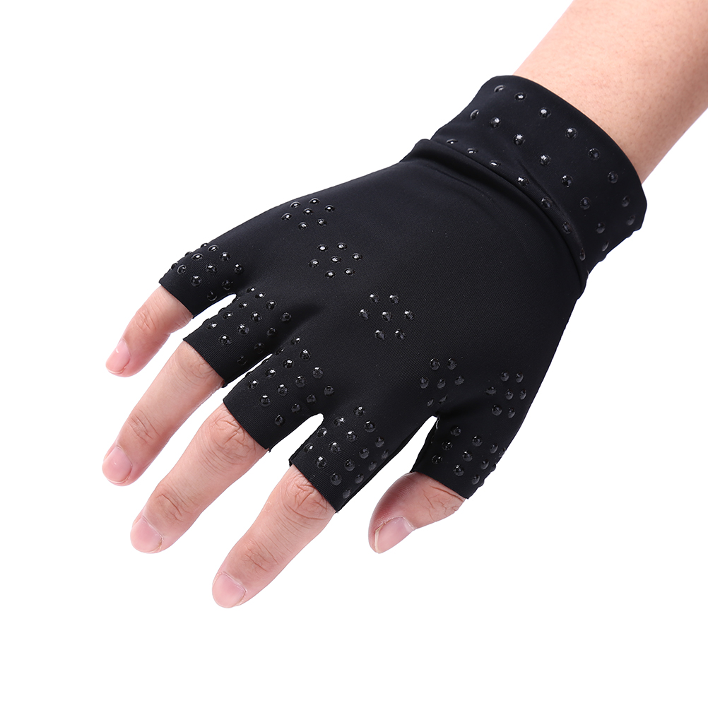 Magnetic Therapy Fingerless Gloves Arthritis Pain Relief Heal Joints Braces Supports Health Care Tool