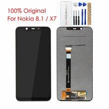 """100% Originale Per Nokia 8.1 LCD Display Touch Screen del Pannello Dello Schermo Per Nokia X7 6.18 """"LCD Digitalizzatore Sostituzione di Ricambio di Riparazione parti"""