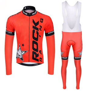 Image 3 - Мужской комплект одежды для велоспорта Rock, весна осень 2019, дышащая одежда для велоспорта с защитой от УФ лучей и длинным рукавом, комплекты из Джерси для велоспорта