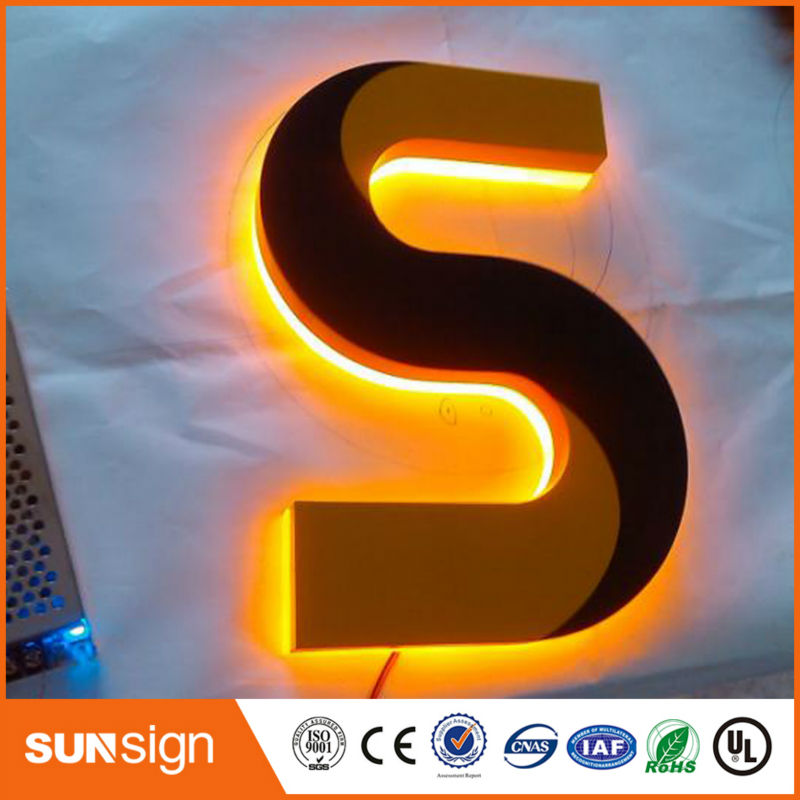 Waterproof Illuminated Sign Backlit LED Light Up Letters
