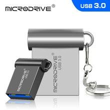 USB 3.0 ذاكرة عصا 16gb 32gb 64gb 128gb سوبر صغيرة معدنية محرك فلاش USB بندريف القلم الصغير محرك U القرص مع مفتاح سلسلة