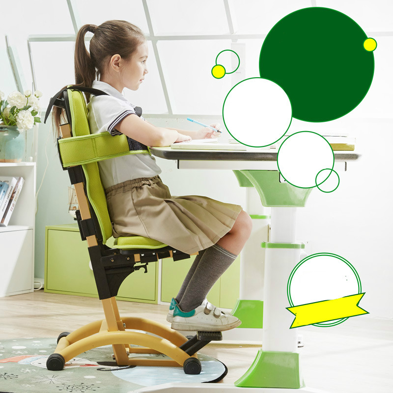 Foot Pedal Lifting Children Sitting Chair Posture