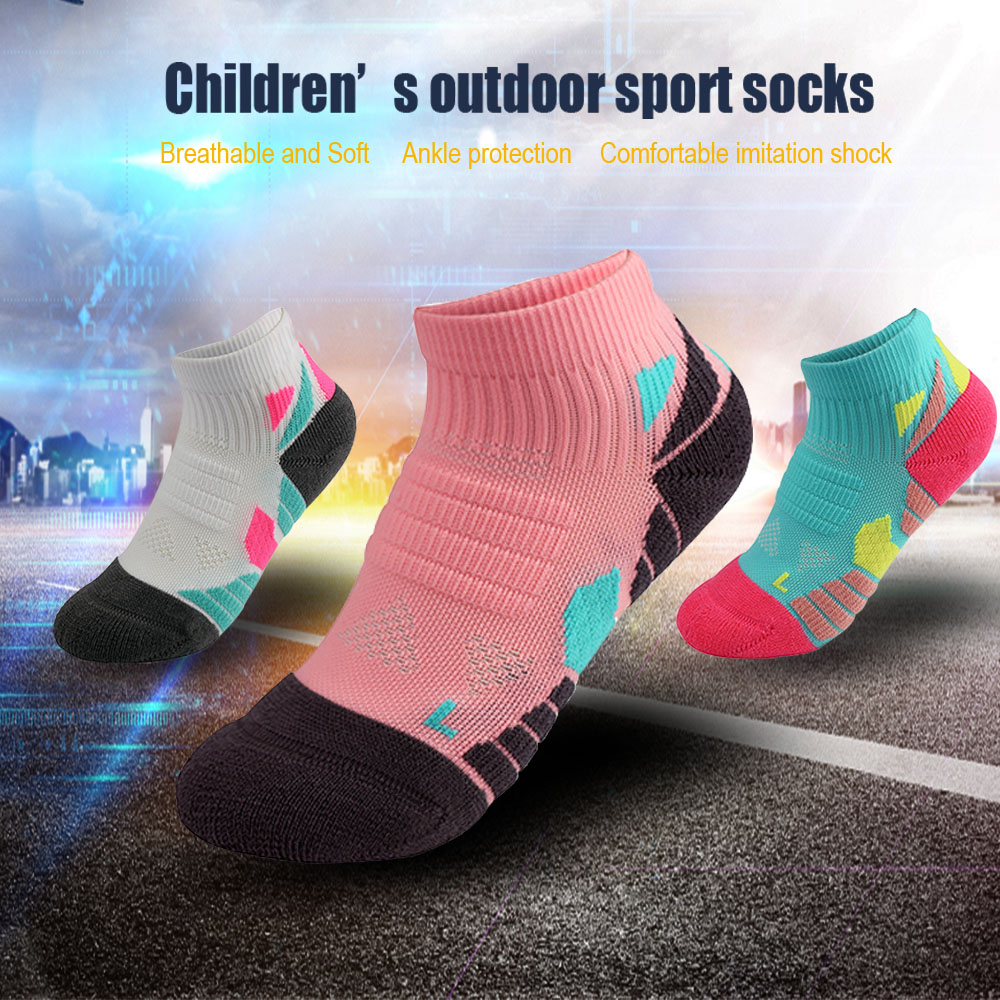 UGUPGRADE Children Outdoor Sport Socks 1Pair/Lot Running Cycling Basketball Breathable Soft Ankle Protection Calcetines Ciclismo