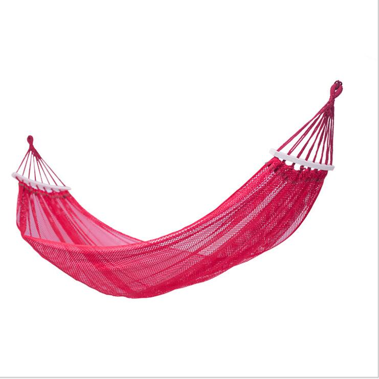 Outdoor Ice Silk Mesh Hammock With Curved Sticks Size:190*130cm A017