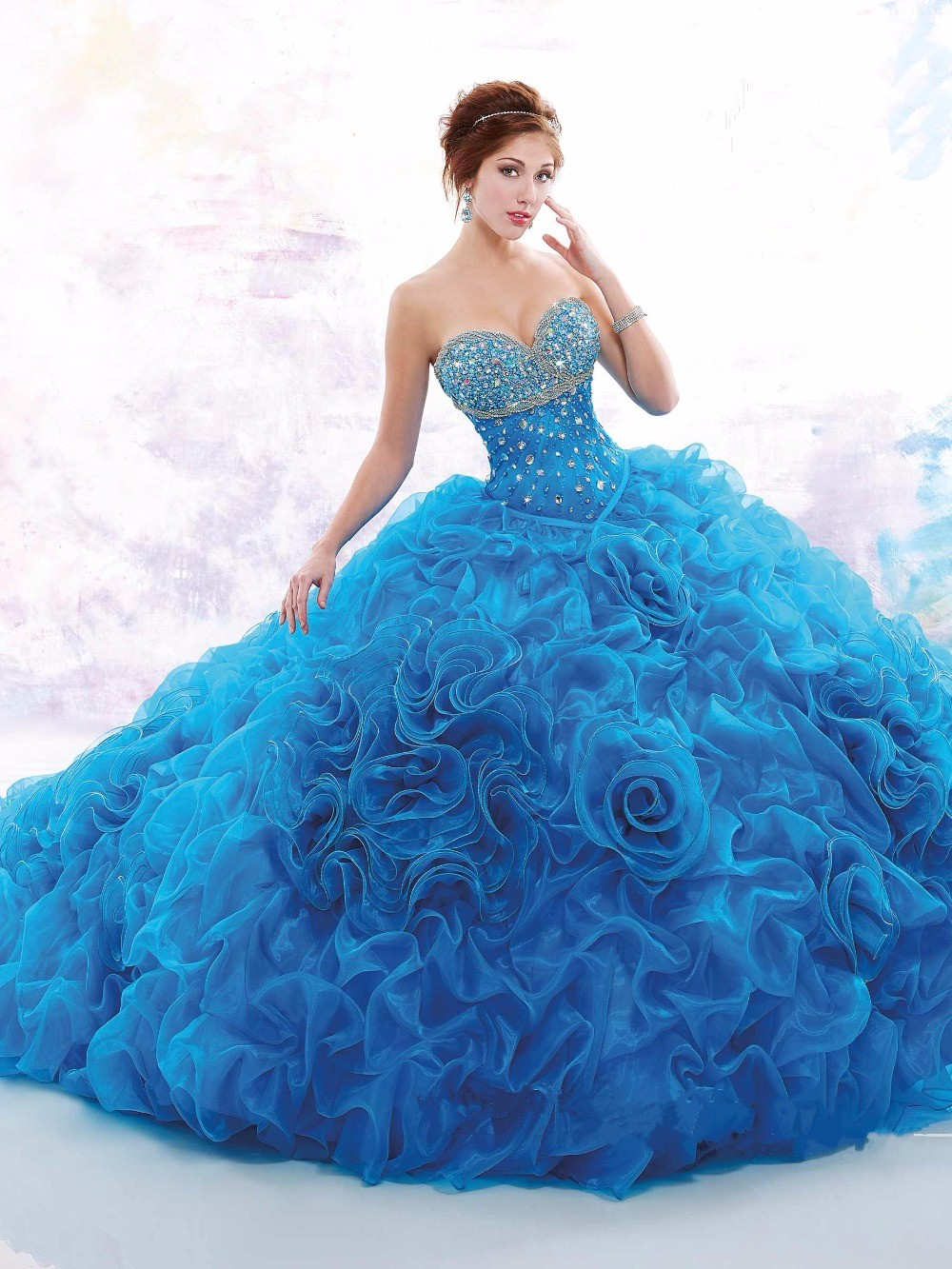 2016-New-Arrival-Free-Shipping-Baby-Blue-Bodice-Corset-Quinceanera-Dresses-Ball-Gown-Yisha-Lady-Custom