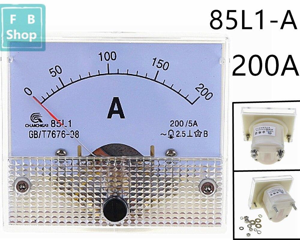 Аналоговый панельный амперметр переменного тока 85L1 200A, 1 шт.