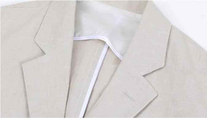 プラスサイズブレザー男性綿リネンブレザーメンズカジュアル簡単なジャケットだぶだぶ軽量ブレザー男性 2019 Masculino S-3XL DS5011