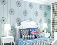 Beibehang Nonwovens sain mode moderne romantique coloré chambre salon TV fond d'écran papel de parede tapety