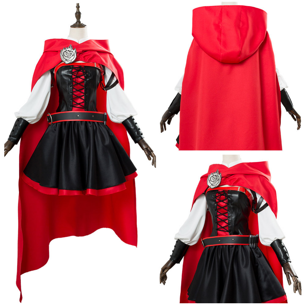 RWBY 3 Season Battler Costume Ruby Rose Cosplay Costume Dress Halloween Uniform Suit For Adult Women Girls Halloween Carnival