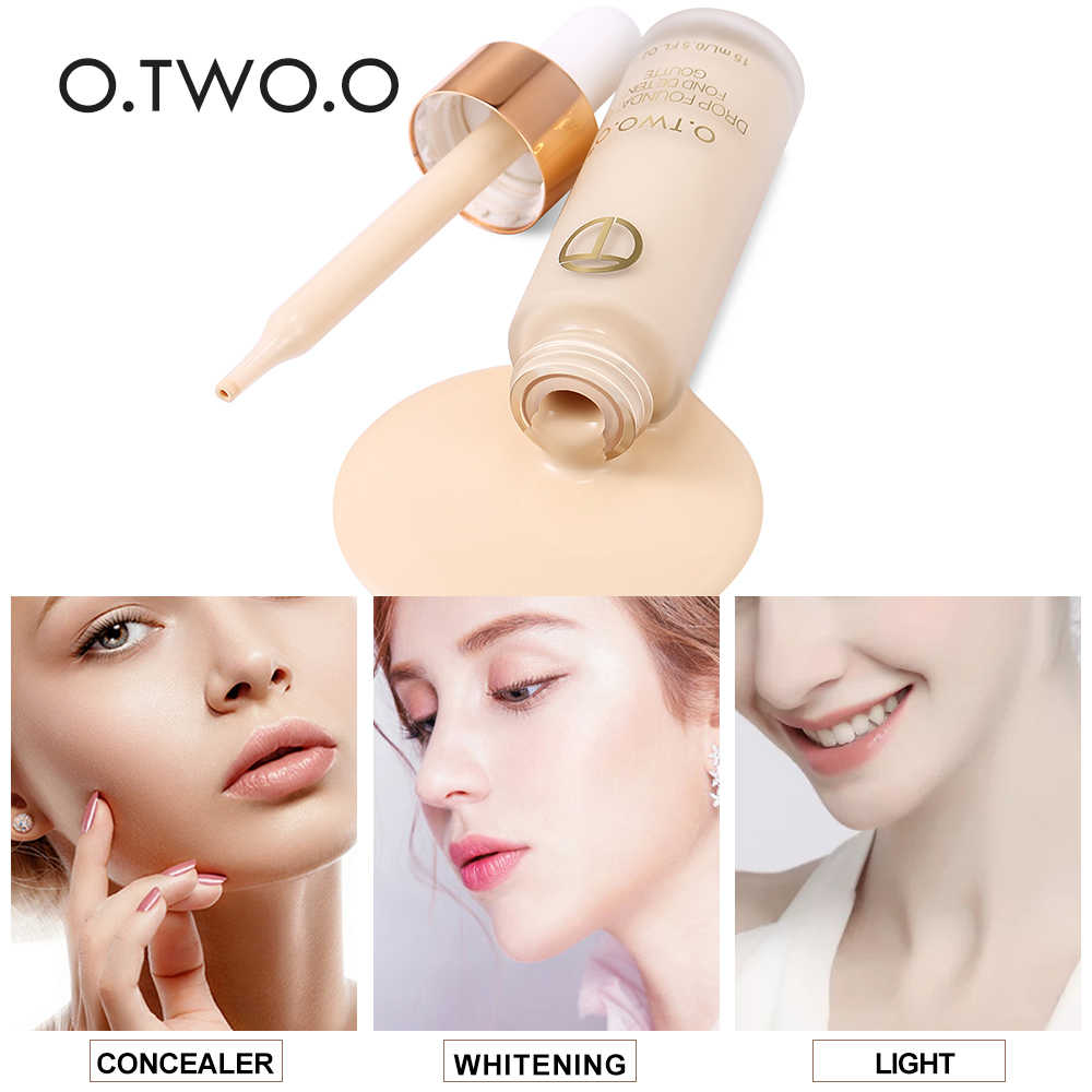 O.TWO.O Brand Full Cover Matt Liquid Foundation Makeup Face Base Long Lasting Concealer Primer BB Cream Make Up Cosmetics 15ml