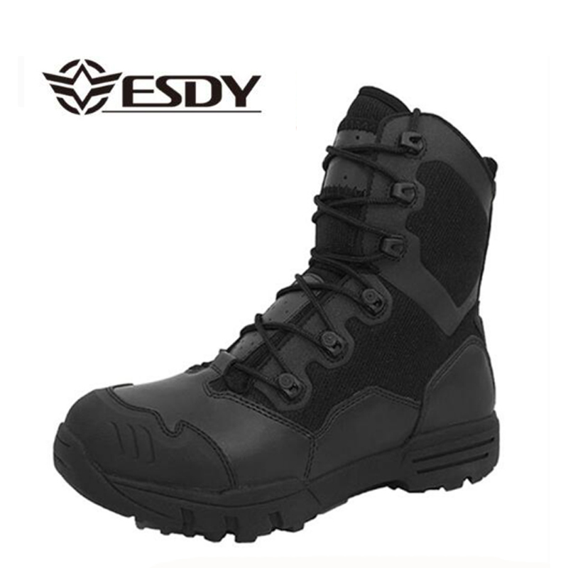 Winter Men Military Boots Leather Special Force Desert Tactical Combat Army Boots Men s Safty Work
