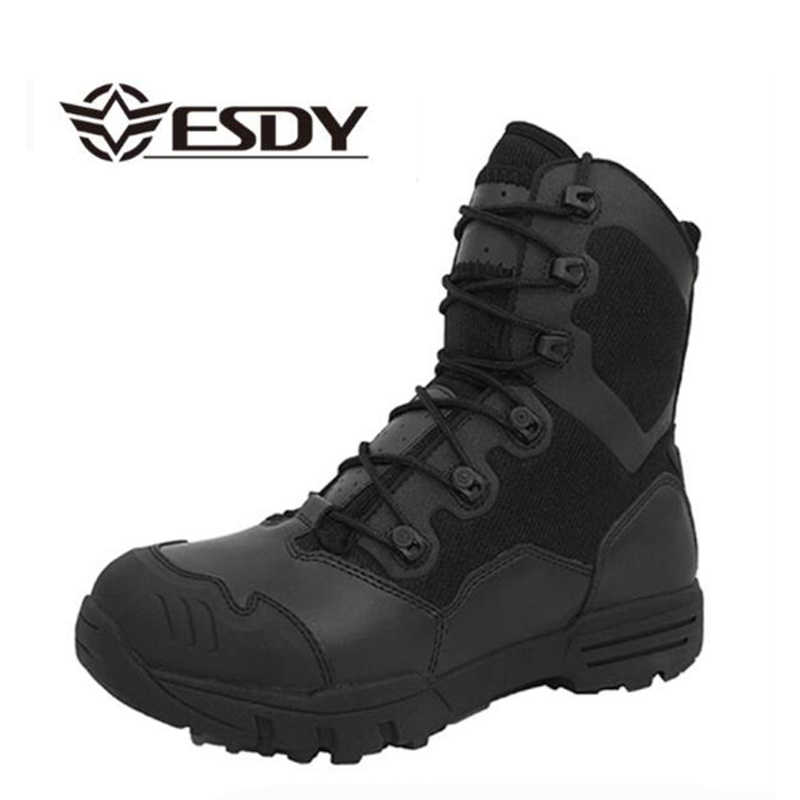 8086feb018 Winter Men Military Boots Leather Special Force Desert Tactical Combat Army  Boots Men s Safty Work Shoes