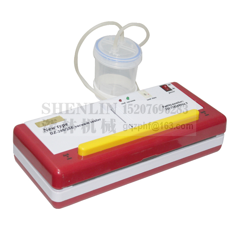 SHENLIN DZ280 / 2SE vízi hal vákuumcsomagoló eszköz élelmiszer-vákuummegtakarító táskák tömítő gép nedves és száraz anyag csomagolására