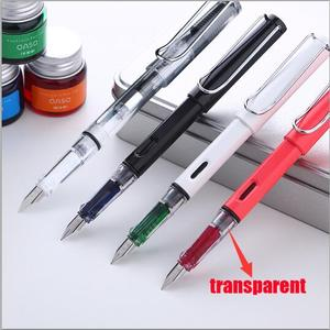 Image 3 - 2017 New Arrival OASO C13 Transparent Resin Fountain Pen with 3 Bottle Ink Pens for Writing Christmas Gift Office Supplies
