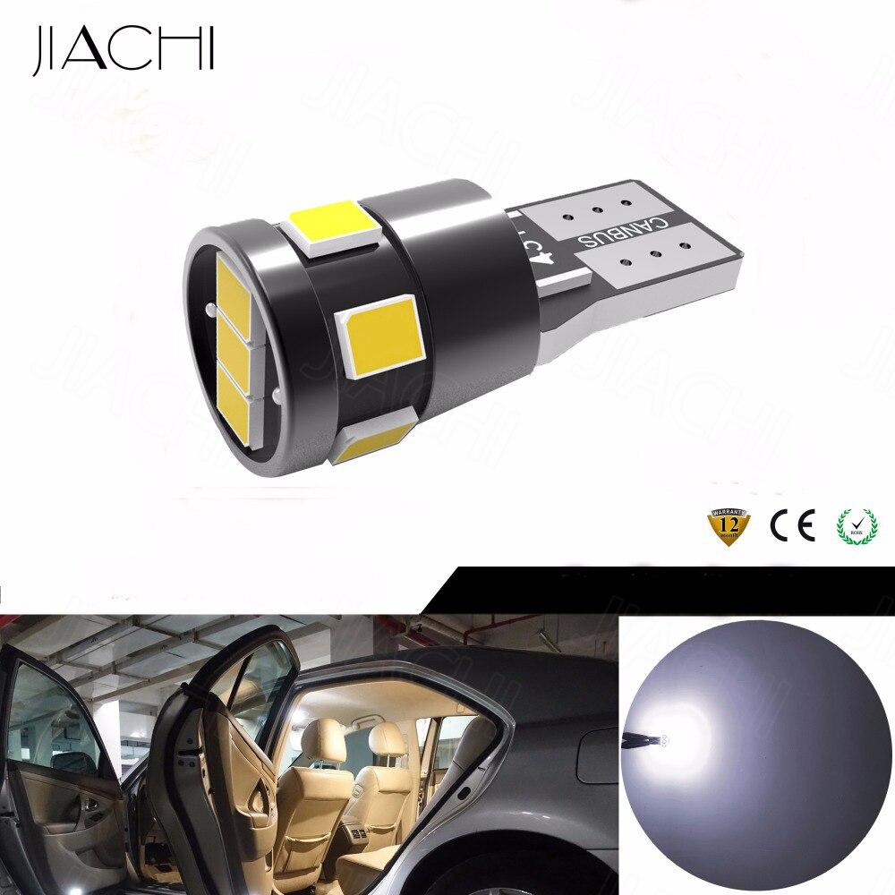 JIACHI 100 x Automotive LED Bulbs T10 W5W 2835SMD 9Chipests 194 168 LED CANBUS Error Free