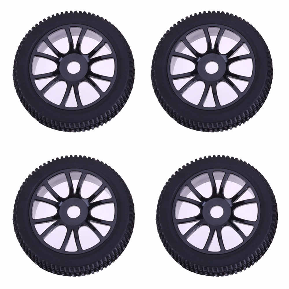 Control Toys 4pcs 17mm Hub Wheel Rim Tires Tyre for 1/8 Off-Road RC Buggy Vehicles Remote Accessories Vehicle Wheel Protector